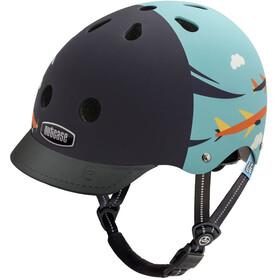 Nutcase Little Nutty Street casco per bici Bambino nero/turchese
